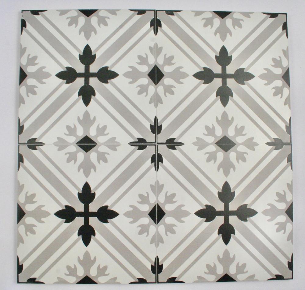 Classic Grey Keys Wall and Floor Tile 200mm