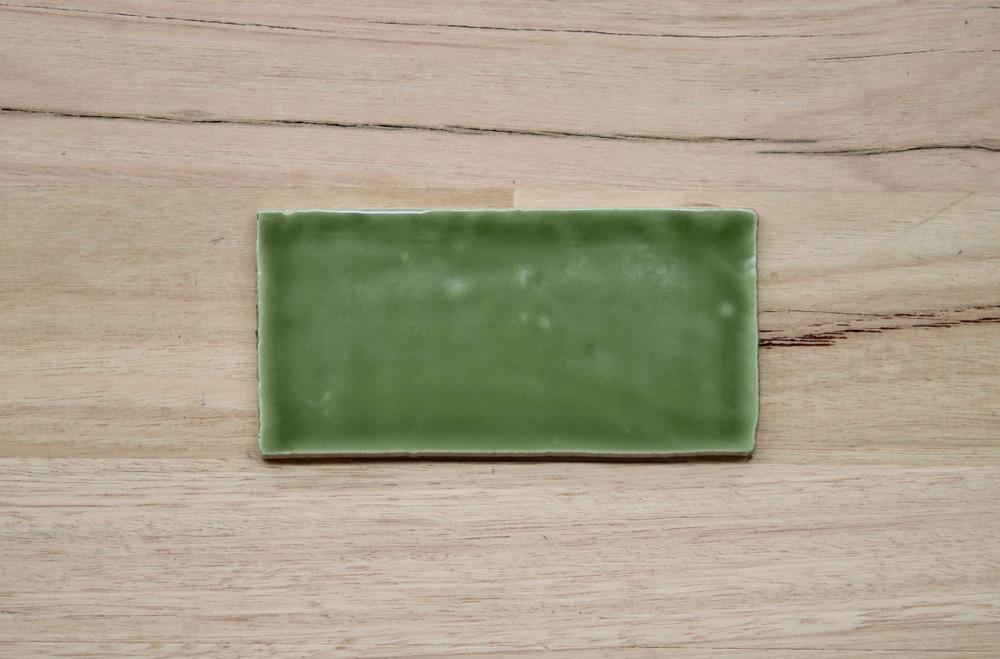 Barcelona Olive Gloss Subway Tile
