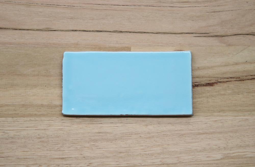 Barcelona Sky Blue Subway Wall Tile 150x75