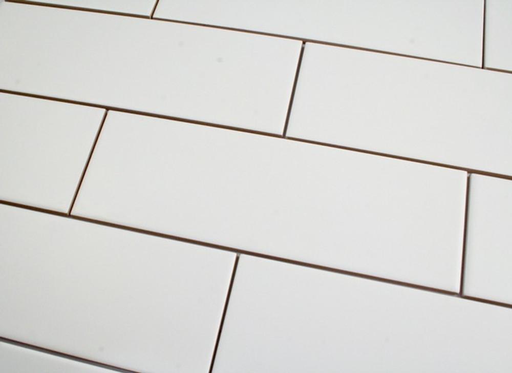 Matt White Subway Wall tile 300x100mm