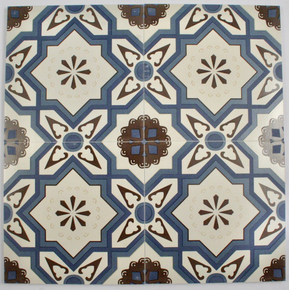 Sample of Aegean Blue Square Wall and Floor Tile 200x200mm