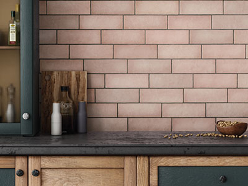 Coral Pink Matt Wall Tile 200x65mm