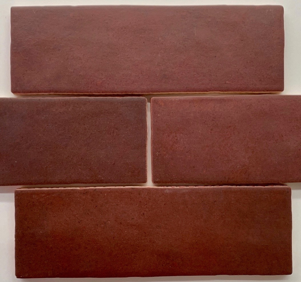 Madrid Burgundy  Matt Wall Tile 200x65mm