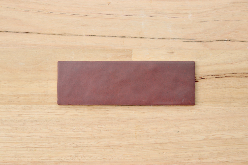 Burgundy Matt Wall Tile 265x65mm