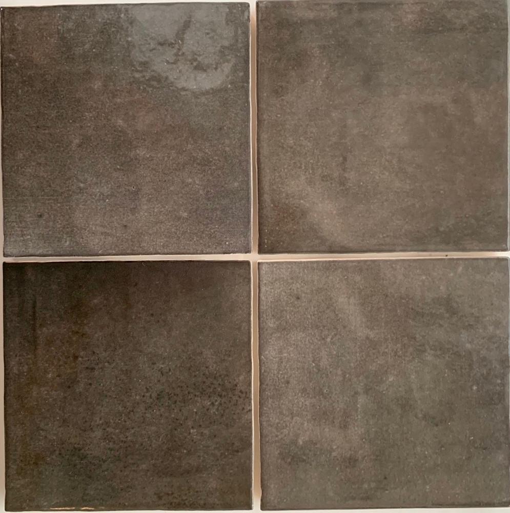 Carbon Grey Gloss Wall Tile 132mm