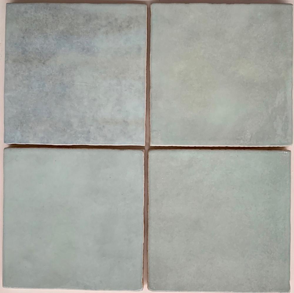 Onda Azure Blue Handmade Style Gloss Wall Tile