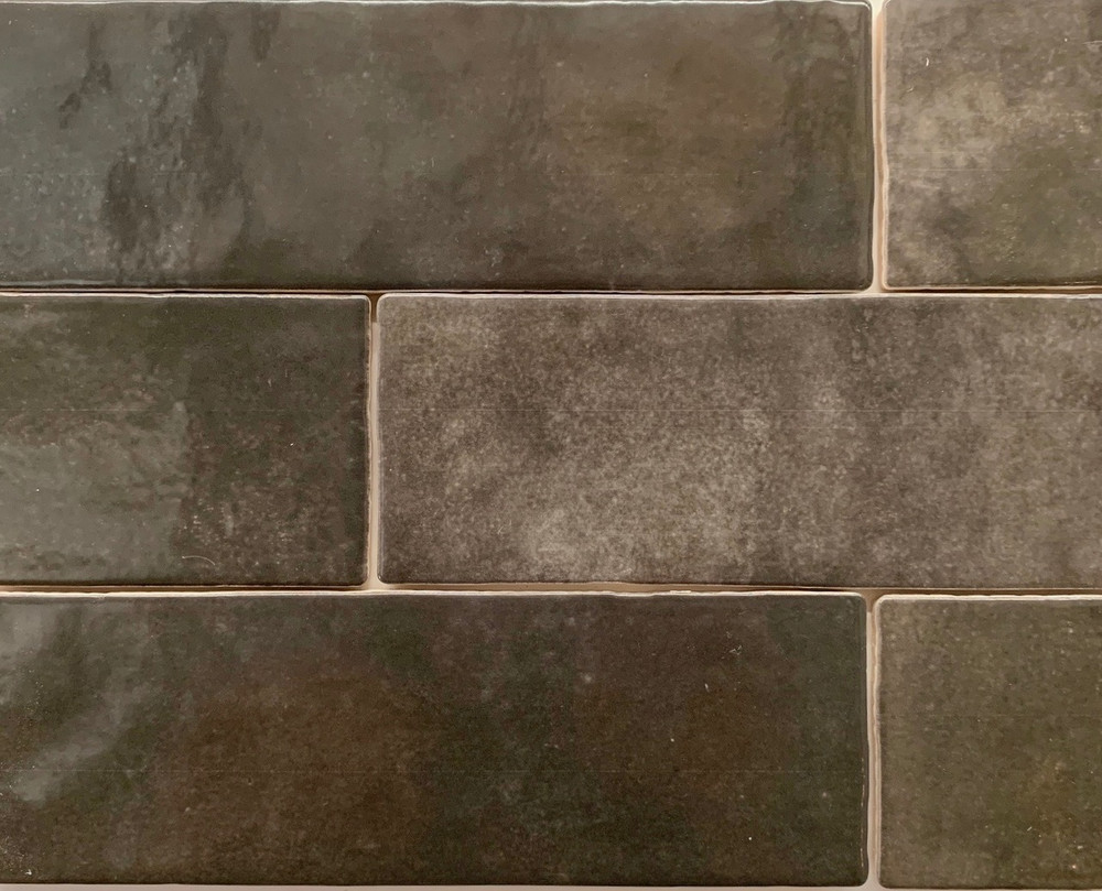 Carbon Handmade Style Subway Wall Tile 200x65mm