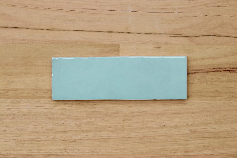 Onda Azure Gloss Subway Wall Tile 200x65mm