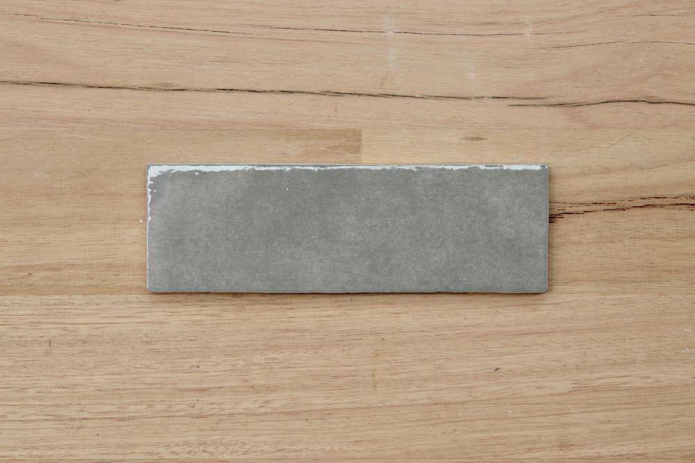Onda Ash Gloss Subway Tile 200x65mm