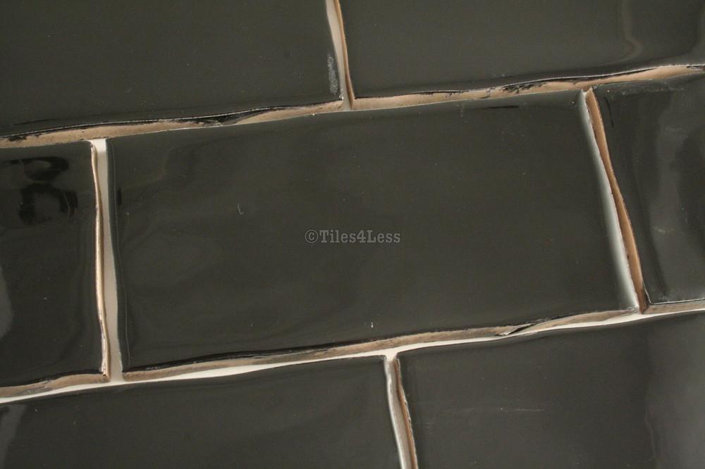 75x150mm Black Gloss Subway Tile