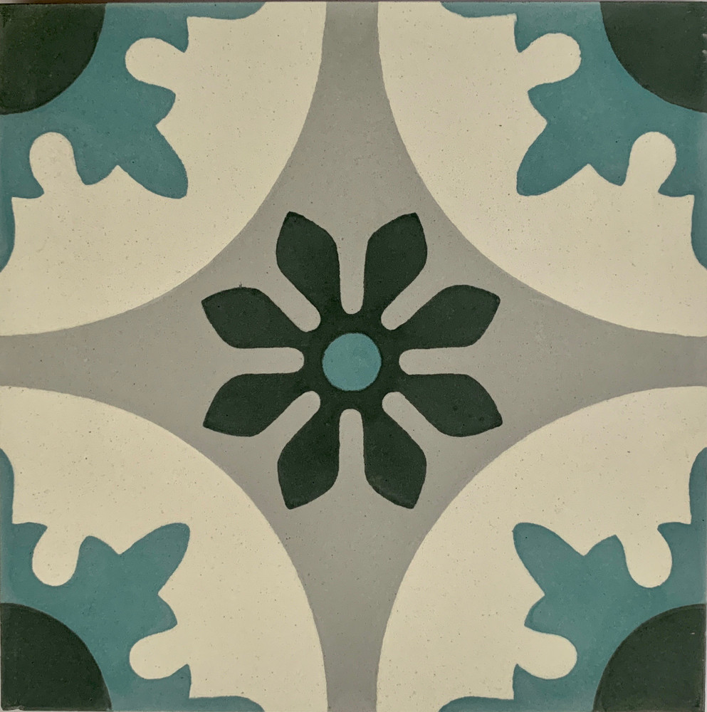 Seville Encaustic Cement Tile - 1 tile