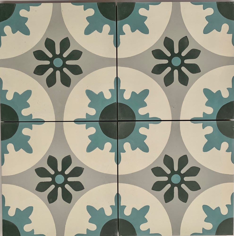 Seville Encaustic Cement Tile - 4 tiles