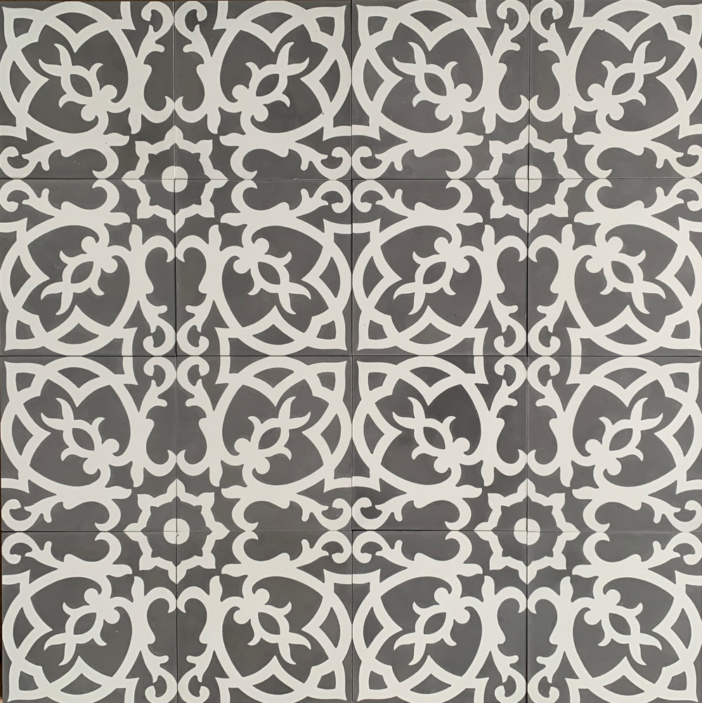 Turin Encaustic Cement Tile - 16 tiles