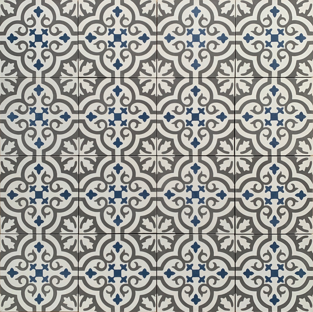 Saigon Encaustic Cement Tile - 16 tiles