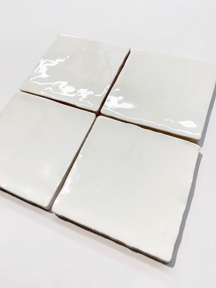 Barcelona White Gloss Wall Tile  10x10cm