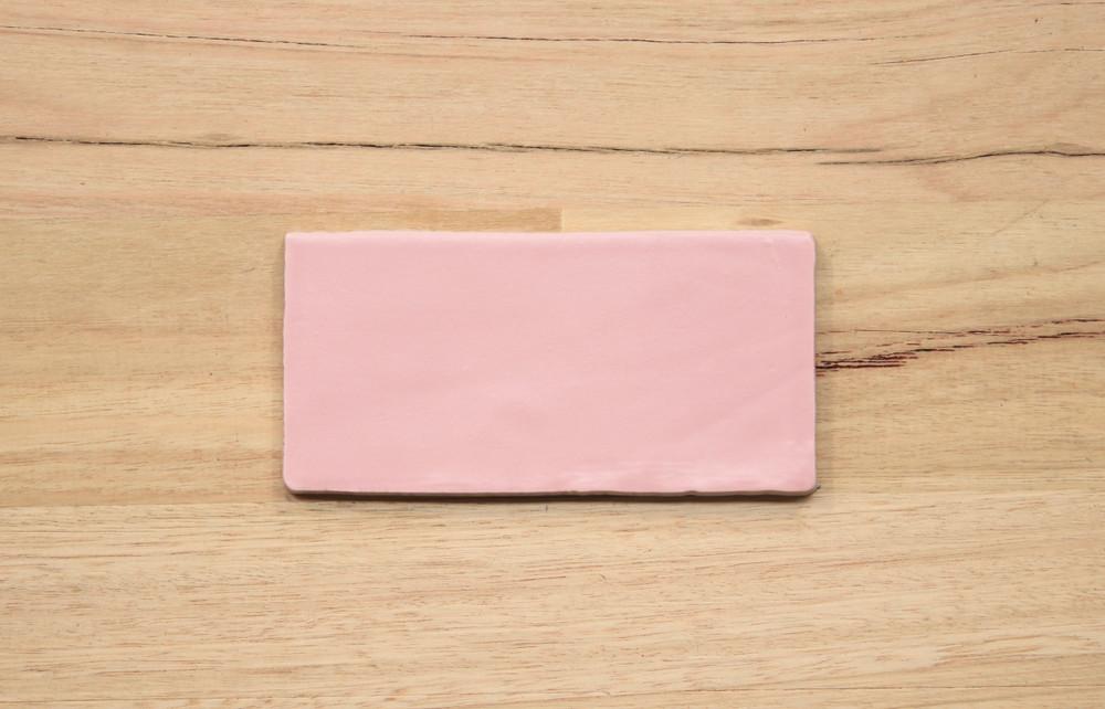 Rosa Pink Matt Subway Tile