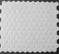 White Hexagonal Mosaic Tile Matt 23mm
