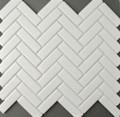 White Herringbone Mosaic 72x22mm - Matt Finish