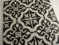 Tangiers  Black and White Wall and Floor Tile 200x200mm - Tiles4less