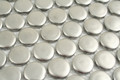 Silver Penny Round 19mm Mosaic - 10 Sheets