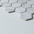 Carrara Look Porcelain Hexagonal Mosaic 51mm