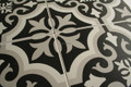 Sample of A Tangiers Black and White Wall and Floor Tile 200mm