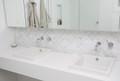 Carrara Marble Fish Scale Mosaic - Honed Finish