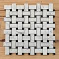 Carrara Basketweave  Marble Mosaic