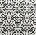 Tulip Encaustic Tile Black on White - 16 Tile