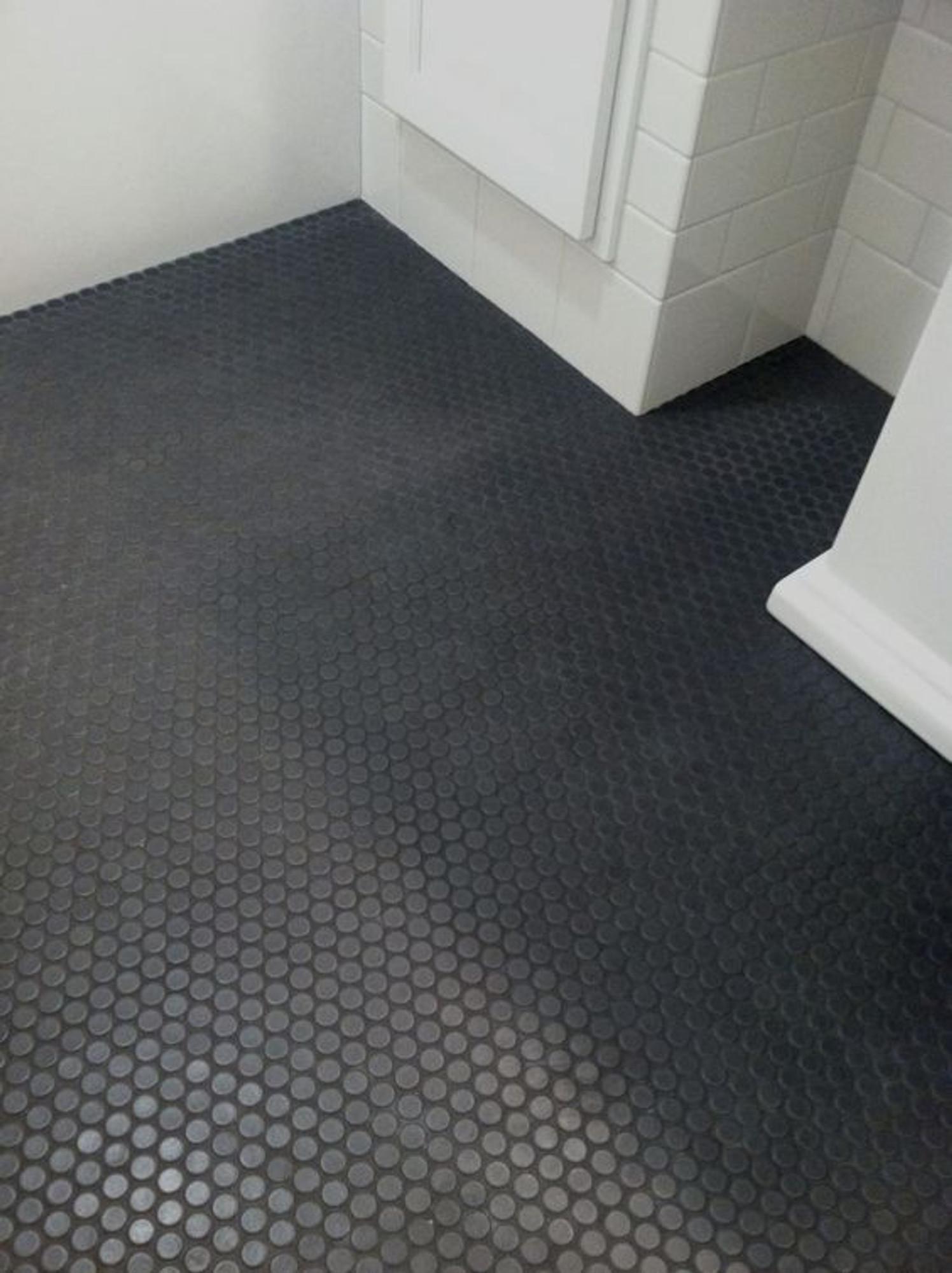 Matt Black Penny Round Mosaic Wall Tiles Buy Online Tiles4less