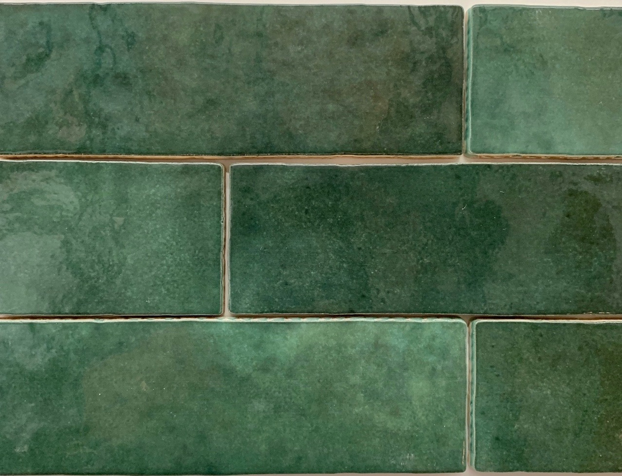 Sample Of Forest Green Handmade Style Spanish Subway Wall Tile Buy Online Tiles4less