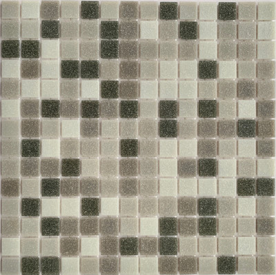 Silver Grey Glass Pool Mosaic 20mm