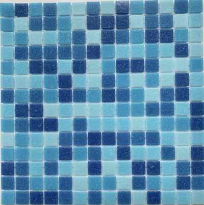 Azure Blue Glass Pool Mosaic 20mm