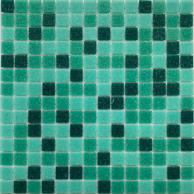 Emerald Green Glass Pool Mosaic 20mm