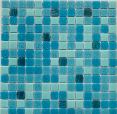 Sky Blue Glass Pool Mosaic Tile 20mm