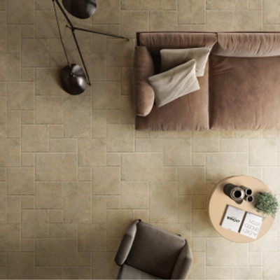 French Pattern Travertine Look Floor Tiles