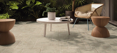 French Pattern Travertine Look Porcelain Floor Tiles