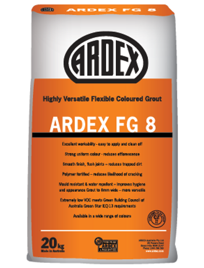 5kg Ardex FG8 Slate Grey Wall and Floor Grout