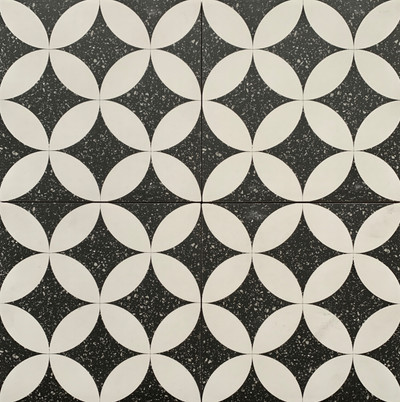 Sample of Andria Terrazzo Look Porcelain Tile 205mm