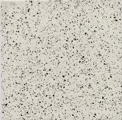 Sample of White Terrazzo Look Plain Tile 205mm