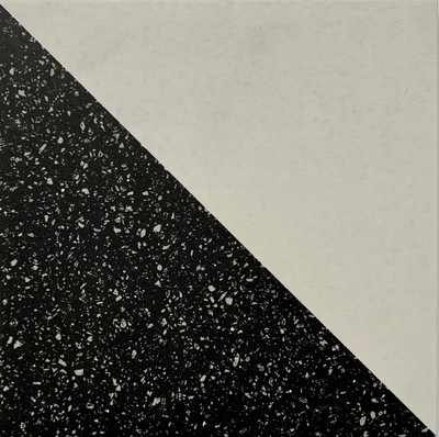 Black and White Chevron Tile 205mm
