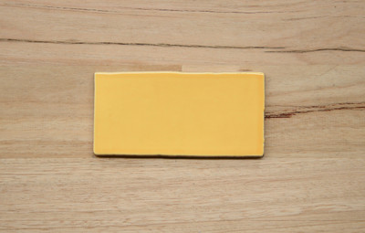 150x75mm Yellow Gloss Subway Wall Tile