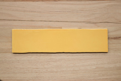 300x75mm Yellow Gloss Subway Wall Tile