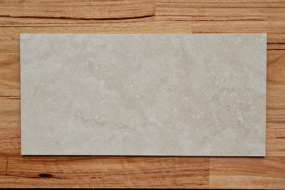 Travertine Ivory Porcelain Floor Tile 600x300mm
