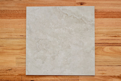 Silver Travertine Porcelain Internal Tile