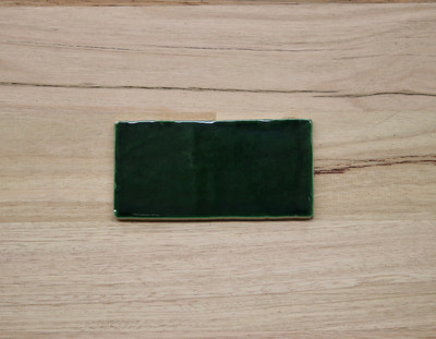 Barcelona Green Night Subway Tile 150x75mm