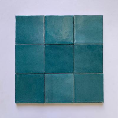 Zellige Petrol Blue Gloss Wall Tile  10x10cm - sold per box