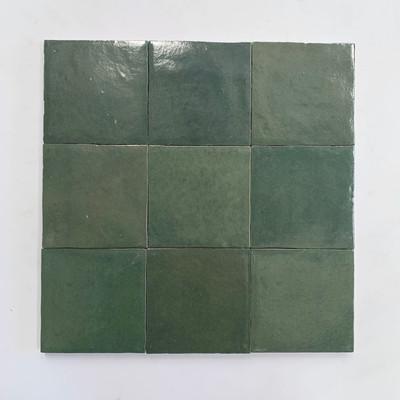 Zellige Dark Green Gloss Wall Tile  10x10cm - sold per box