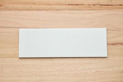 Sample  of Matt  White Wall Tile 30x10cm
