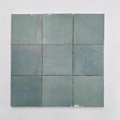 Zellige Blue Mist Gloss Wall Tile  10x10cm  - sold per box